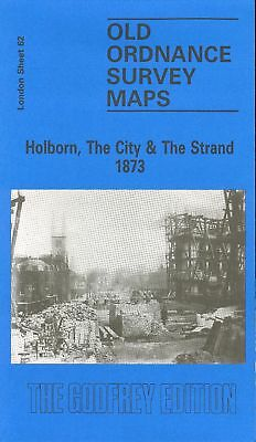 Old Ordnance Survey Map Holborn, The City & The Strand 1873