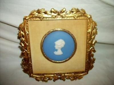 Antique French Bronze Ormolu Frame Limoges Lady Bust Cameo Stunning 1800's