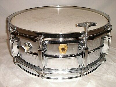 """Vintage 1969 Ludwig 5 x 14"""" Chrome Plated SUPRAPHONIC 400 Snare Drum"""