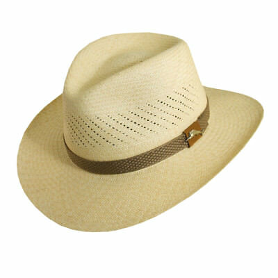 timeless design c1261 33c15 Tommy Bahama   Mens Panama Straw Fedora Hat   New Outback Summer Sun Shady  Golf