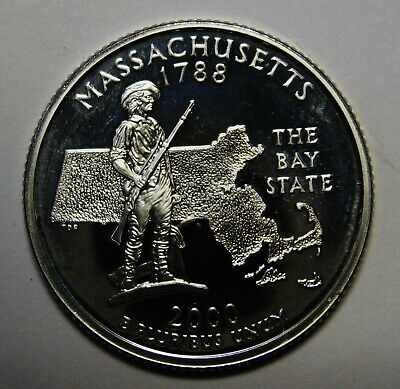 2000-S Massachusetts Gem DCAM Silver Proof State Quarter Stunning Coin