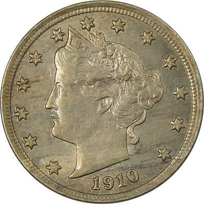 1910 Liberty Head V Nickel AU-About Uncirculated
