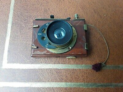 Thornton & Pickard lens mount  with Wray of London lens for 'Snap Shot' camera