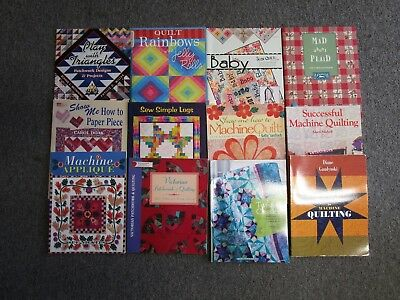 Lot of 12 Quilt Books Guides Patterns Machine Quilting Victorian Sew