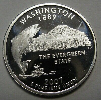 Silver 2007 S Montana Proof State Quarter With 2x2 Case DCam  Combined Shipping