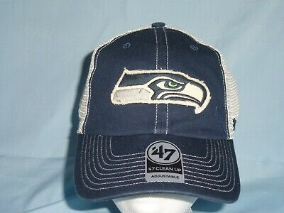 c80e7600757 SEATTLE SEAHAWKS mesh Adjustable Clean Up style CAP HAT  47 Brand NWT  28  retail