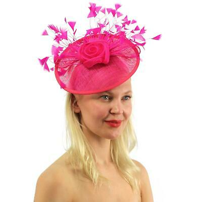 New Church Derby Cocktail Party Sinamay Fascinator Hat w headband 174835 ivory