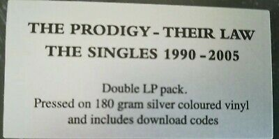 "The Prodigy - Their Law - Silver Coloured Vinyl Singles Hits 2 X 12"" Lp (Charly)"