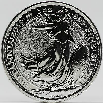 2019 Great Britain Silver Britannia 1 oz Coin 999 Fine 2 Pounds - JB816