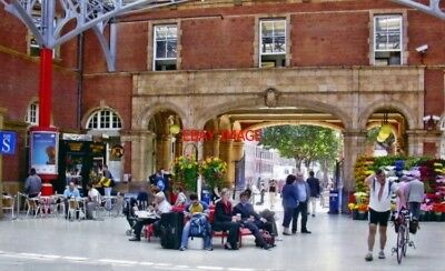 Photo  Marylebone Railway Station Concourse 2006 View Se To Entrance Arch To Mel