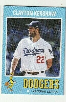 2019 Clayton Kershaw Topps Throwback Thursday Tbt 1971 Style Card -  674 Made