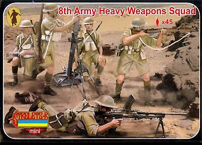 Strelets Models 1/72 BRITISH 8TH ARMY HEAVY WEAPONS SQUAD Figure Set