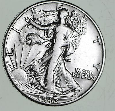 Strong Feather Details - 1942 Walking Liberty Half Dollars - Huge Value *520