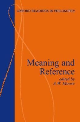 Meaning and Reference (Oxford Readings in Philosophy), , Good Condition Book, IS