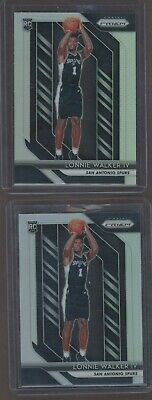 Lot of (2) 2018-19 Panini Prizm Silver Lonnie Walker IV Spurs RC Rookie