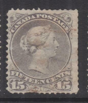 CANADA, 1890 Large Queen, 15c. Slate Violet , used, faults.