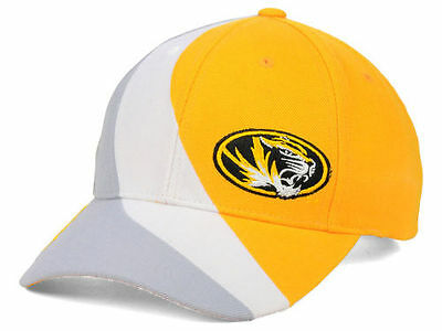the best attitude e6639 94fbd NEW Men s NCAA Missouri Tigers Top of the World Slashed Cap Hat Gold White  Gray