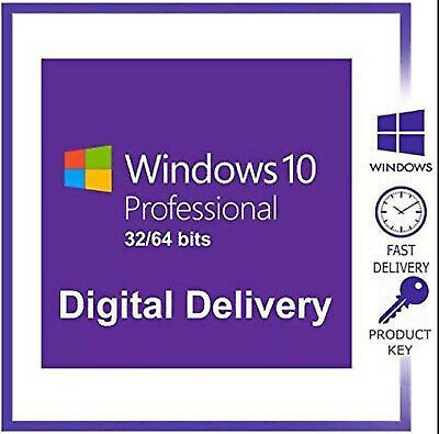 Windows10 Pro 32.64 Bit Win10 Lifetime Genuine License Original Activation Key