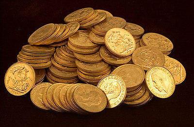 Five (5) British Gold Sovereigns (1.177 oz of Gold) - FREE Shipping