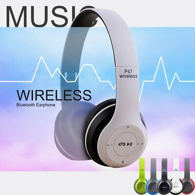 Wireless Headphones Bluetooth Headset Foldable Noise Cancelling Over Ear W/ Mic