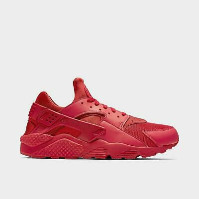 NIKE AIR HUARACHE RUN MEN's M SPANDEX RUNNING VARSITY RED AUTHENTIC TRIPLE RED