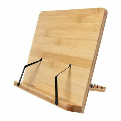 Bamboo Adjustable Reading Book Holder Foldable Tablet Portable Sturdy Bookstand