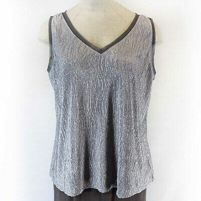 89b1d4c4532 NEW Lane Bryant Plus Size Shine Gray Sleeveless Top Shirt Spring Summer  22 24