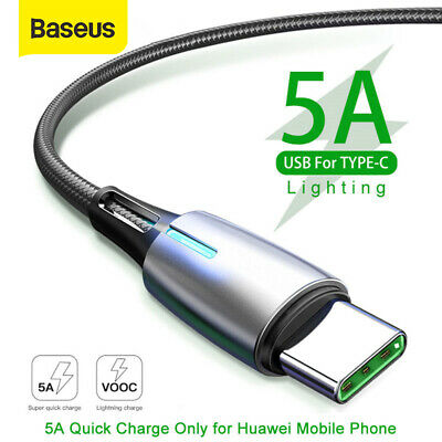 Baseus USB Type C Cable 5A Quick Charge QC3.0 Special for Huawei P20 / P20 Pro