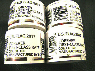 4 Rolls (400) Forever USPS First Class Postage Stamps Mail Sealed 2017 $220 Face