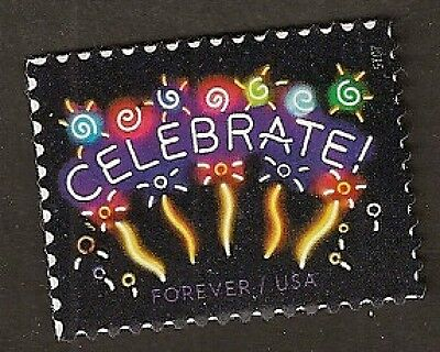 US 5019 Neon Celebrate forever single (1 stamp) MNH 2015
