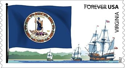 US 4327 Flags of our Nation Virginia forever coil single MNH 2012