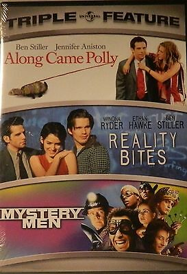 3 Comedies REALITY BITES ALONG CAME POLLY MYSTERY MEN Ben Stiller 3-Disc SEALED