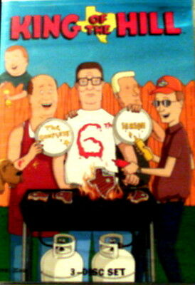 KING of the HILL The COMPLETE SIXTH SEASON All 21 Episodes 3-Disc DVD Set SEALED