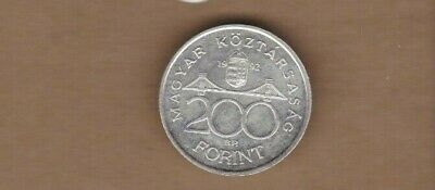 1992 Hungary 200 Forint Silver UNC