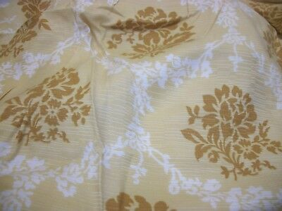 2 Pair Vintage Hollywood Regency Polyester Pinch Pleat Drapes
