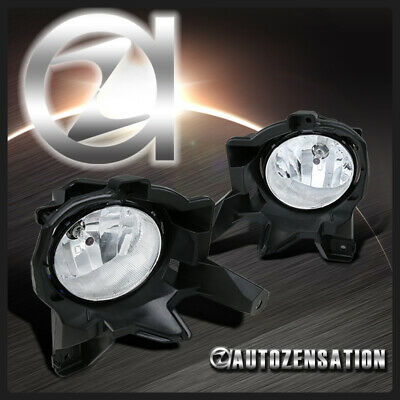 For 2013-2015 Toyota RAV4 Clear Lens Front Bumper Fog Lights w/ H16 Bulbs+Switch