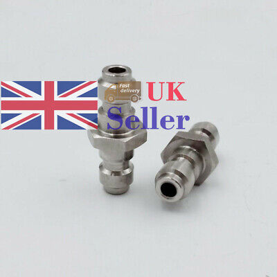 New 8MM Dual Male To Male Quick Fill Nipple Adaptor Plug For PCP Paintball Tanks