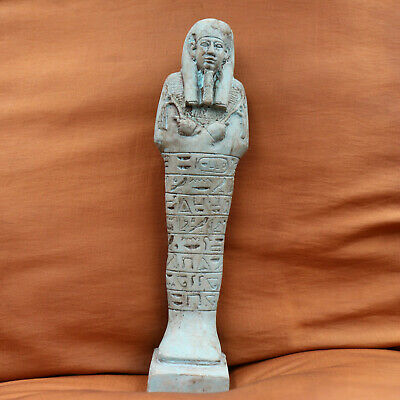 Antique Egyptian Ushabti of Ancient Middle Kingdom Funerary Statue