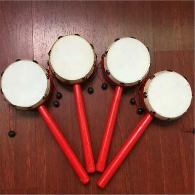 Creative Wooden Hand Drum Shaking Rattle Shaking Rattle Kids Party Toy Gift LC