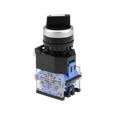 Rotary Selector Switch 2 Positions 2NO Self-Lock Latching AC 660V 10A