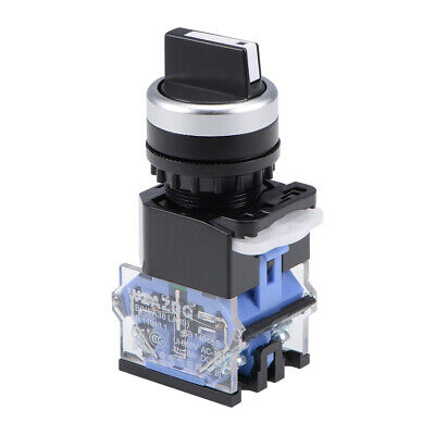 Rotary Selector Switch 2 Positions 2NO Momentary AC 660V 10A