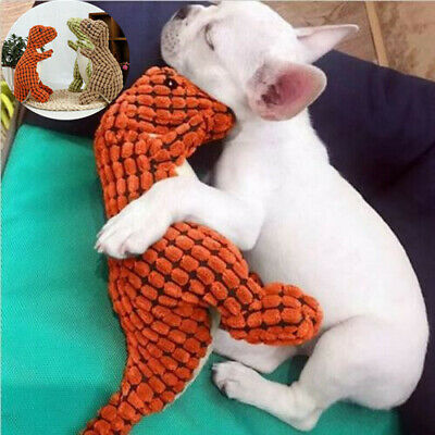Dog Toys Plush Stuffed Squeaky Toys for Dogs Pets Dinosaur Chew Sound Toys UK