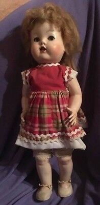 "Vintage Hard Plastic ""Walker"" Doll, has. a few faults, but still very pretty"