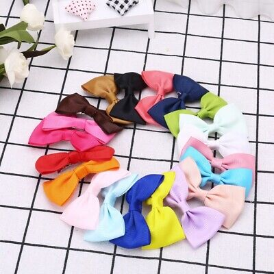 20Pcs Baby Girl Kids Hair Bow Boutique Alligator Clip Ribbon Grosgrain Bowknot
