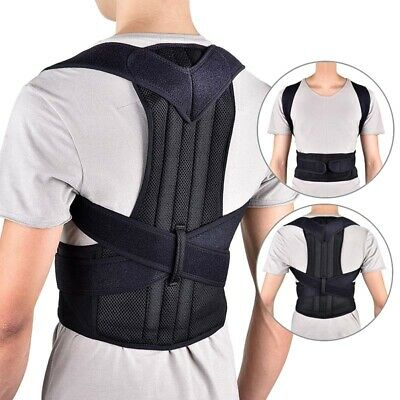 Mens Posture Corrector Shoulder Back Support Brace Band Adjustable Belt S-2XL AU