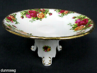 OLD COUNTRY ROSES 'SWANSEA' COMPORT / TAZZA, 1st QLTY, VGC, 1962-73 ROYAL ALBERT