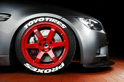 """Tire Lettering YELLOW TOYO TİRES PROXES Permanent 14""""-22"""" Stickers 1"""""""