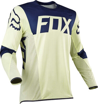 FOX FLEXAIR LIBRA OFFROAD MOTOCROSS MX JERSEY - NAVY / YELLOW enduro bike LE