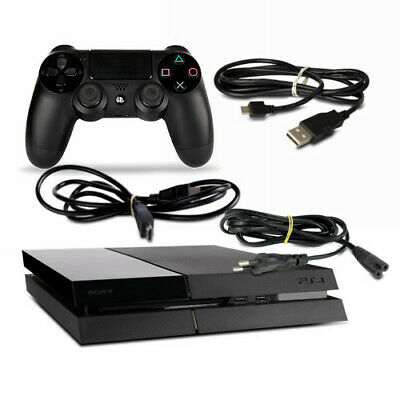 Playstation 4 - PS4 Konsole CUH1115A 500GB in schwarz #50 + Kabel + Controller
