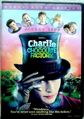 Charlie and the Chocolate Factory (DVD, 2005, Widescreen) Johnny Depp(3-22)